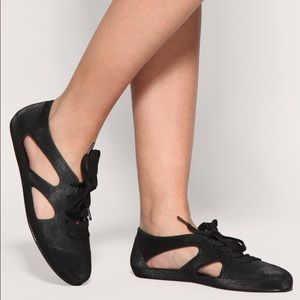 f2237ff06198 F-TROUPE Black Rubber Shoe Sandals 7 Jellies Jelly